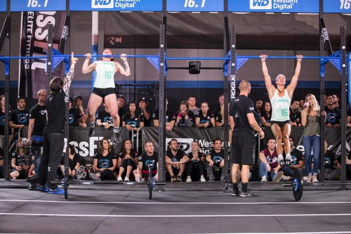 Chyna Cho and Emily Abbott at the 2016 CrossFit Open 16.1 Announcement