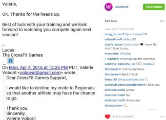Val Voboril Declines CrossFit Regional Invitation