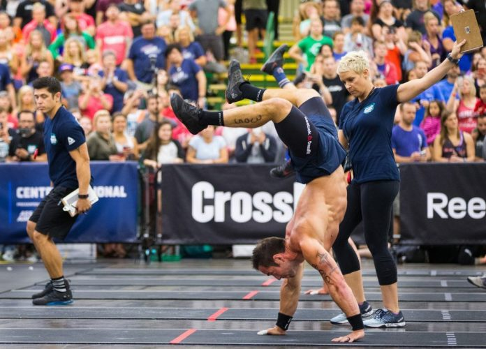 Rich Froning Handstand Walk at 2016 Central Regional