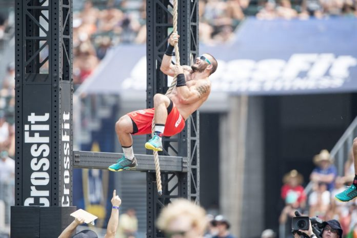 Mathew Fraser during Climbing Snail at the 2016 Reebok CrossFit Games