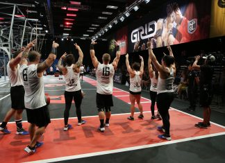 DC Brawlers celebrate win over the Baltimore Anthem