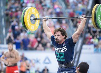Josh Bridges competes at the 2016 CrossFit Games