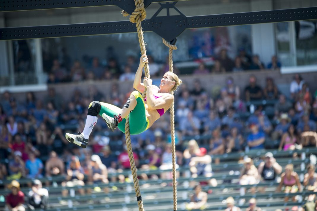 Rebecca Voigt at the 2015 CrossFit Games