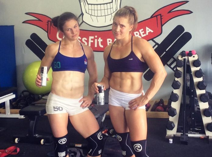 Kari Pearce and Alexis Johnson of FitAid Misfits for CrossFit Team Series
