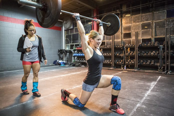 Athlete competing during the 2016 CrossFit Open