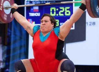 Sarah Robles at the 2016 USAW Olympic Trials