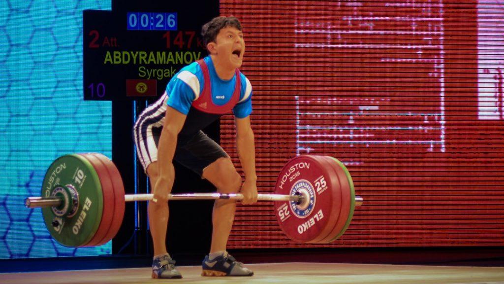 Syrgak Abdyramanov at 2015 IWF World Championships