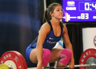 Kaela Stephano at 2016 USAW Youth Championships