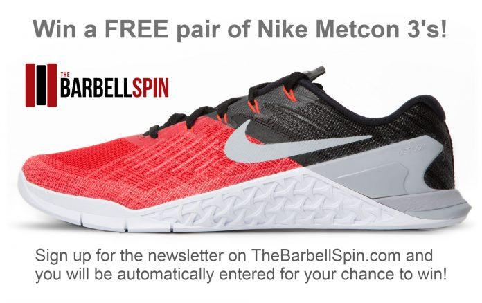dialecto Concesión compromiso  Win a FREE Pair of Nike Metcon 3's! – The Barbell Spin