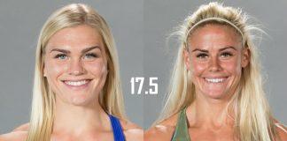 Katrin Davidsdottir and Sara Sigmundsdottir face off in the 17.5 Open Announcement in Madison, Wisconsin