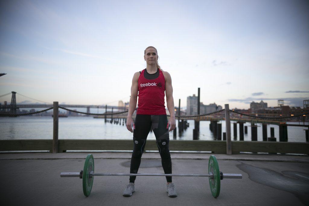 Annie Thorisdottir prepares to break another GUinness World Record outside