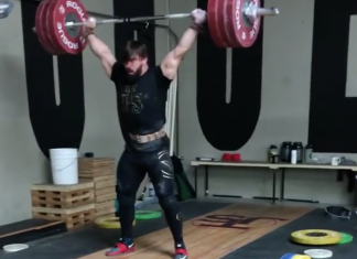 Colin Burns hits 175kg snatch and 200kg C&J in training