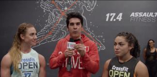 Dave Castro, Brooke Wells and Brenda Castro during 17.4 Open Announcement (screen cap)