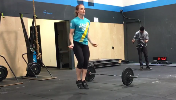 Madison Miller had the fastest time in 17.5 of the CrossFit Open