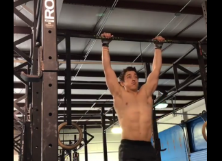 Scott Cottrill doing bar muscle-ups