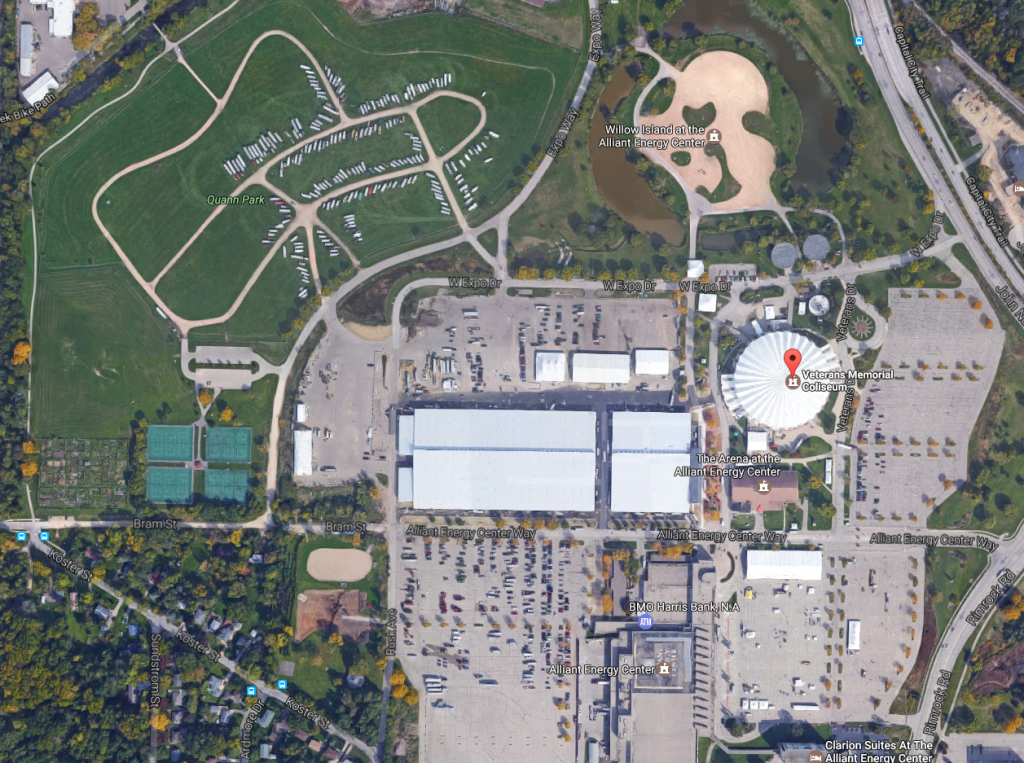 Aerial view of 2017 CrossFit Games site