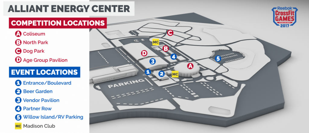 Official CrossFit Games map