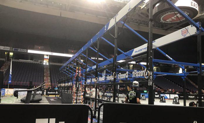 Set up of the 2017 CrossFit Regional floor, via Dave Castro
