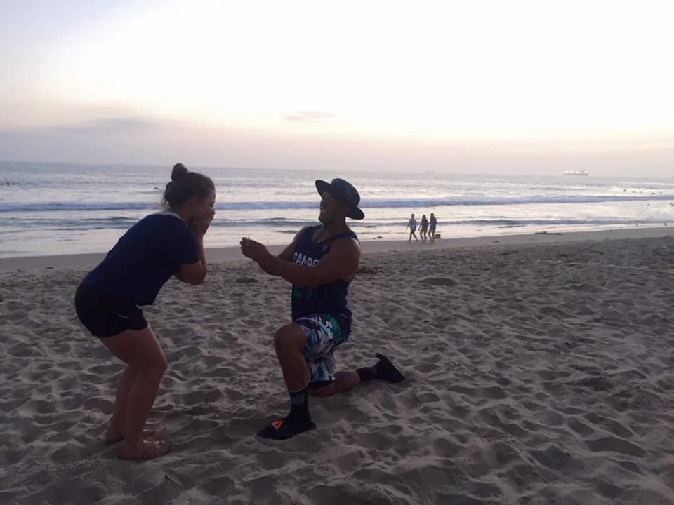 Roy Gamboa proposes to girlfriend, Mackenzie Webb, the day after the 2016 CrossFit Games.