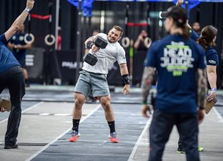 Reigning Fittest Man on Earth Mat Fraser sits in first at the end of Day 1 at the East Regional. Fraser finished first and second in Events 1 and 2, respectively.