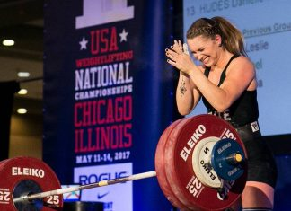 Mattie Rogers breaks Clean and Jerk American Record - Photo by Lifting Life (Instagram)