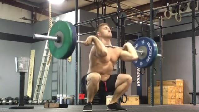 Nick Urankar does 50 Thrusters at 185 pounds for time. @nickurankar/Instagram