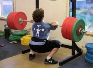Nathan Damron front squats 250kg. @nathandamron94/Instagram