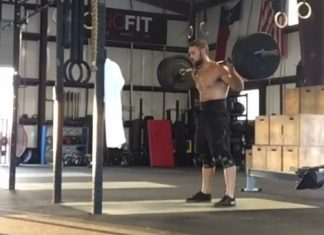 Jordan Cook doing a Row/Back Squat AWOD. @jcrossfitcook/Instagram