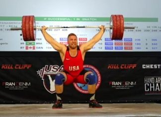 Wes Kitts sets American Record Snatch at 2017 Pan American Championships.