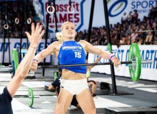 Katrin Davidsdottir during Amanda .45 at the 2017 CrossFit Games.
