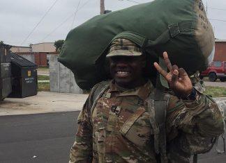 Chandler Smith leaving for nine month deployment to Bulgaria. @blacksmiff/Instagram