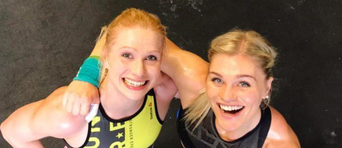 Annie Thorisdottir and Katrin Davidsdottir paired up to compete in the 2017 CrossFit Team Series. @anniethorisdottir/Instagram