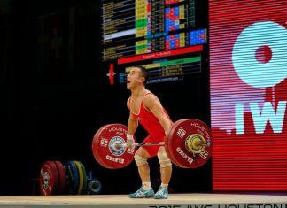 Yun Chol Om at the 2015 IWF World Championships. Photo by Lifting Life.