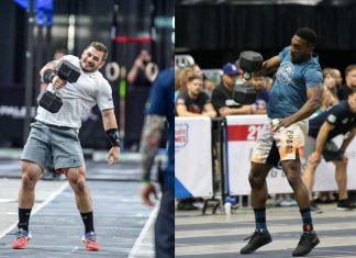 Mat Fraser and Elijah Muhammad moving to the Central Regional. Photos courtesy of CrossFit Inc.