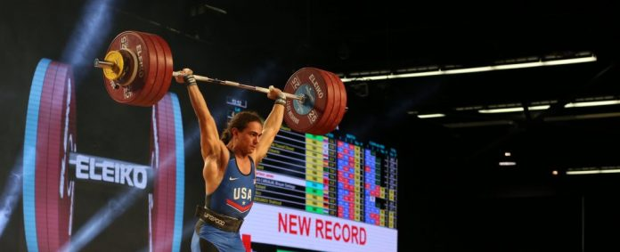 Harrison Maurus breaks Youth American Record and earns bronze medals at 2017 IWF World Championships. Photo courtesy of Lifting Life.