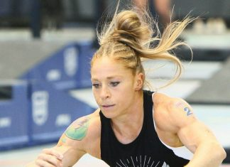 Carleen Mathews at the 2018 CrossFit West Regional. Photo courtesy of CrossFit Inc.