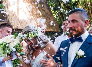 Rob Forte and his fiance, Shaella-Lee, got married in Bali. Photo via @goochball on Instagram