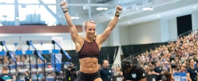 Amanda Barnhart at the 2018 CrossFit Games Central Regional. Photo courtesy of CrossFit Inc.