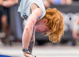 Emily Abbott at the 2018 CrossFit Games West Regional. Photo courtesy of CrossFit Inc.