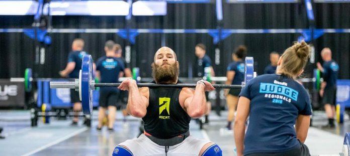 Jared Enderton at the 2018 CrossFit Regionals. Via Instagram, @jaredenderton