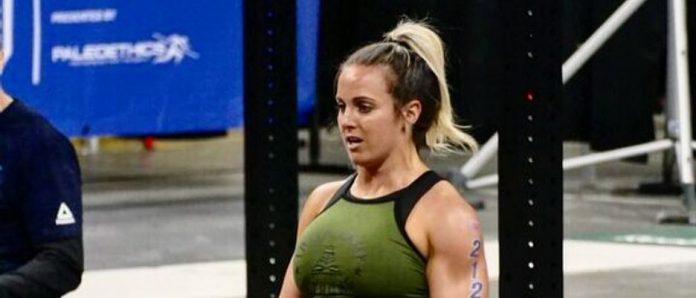 Kelly Baker at the 2018 CrossFit Games East Regional. Photo via Instagram, @kelbakr928