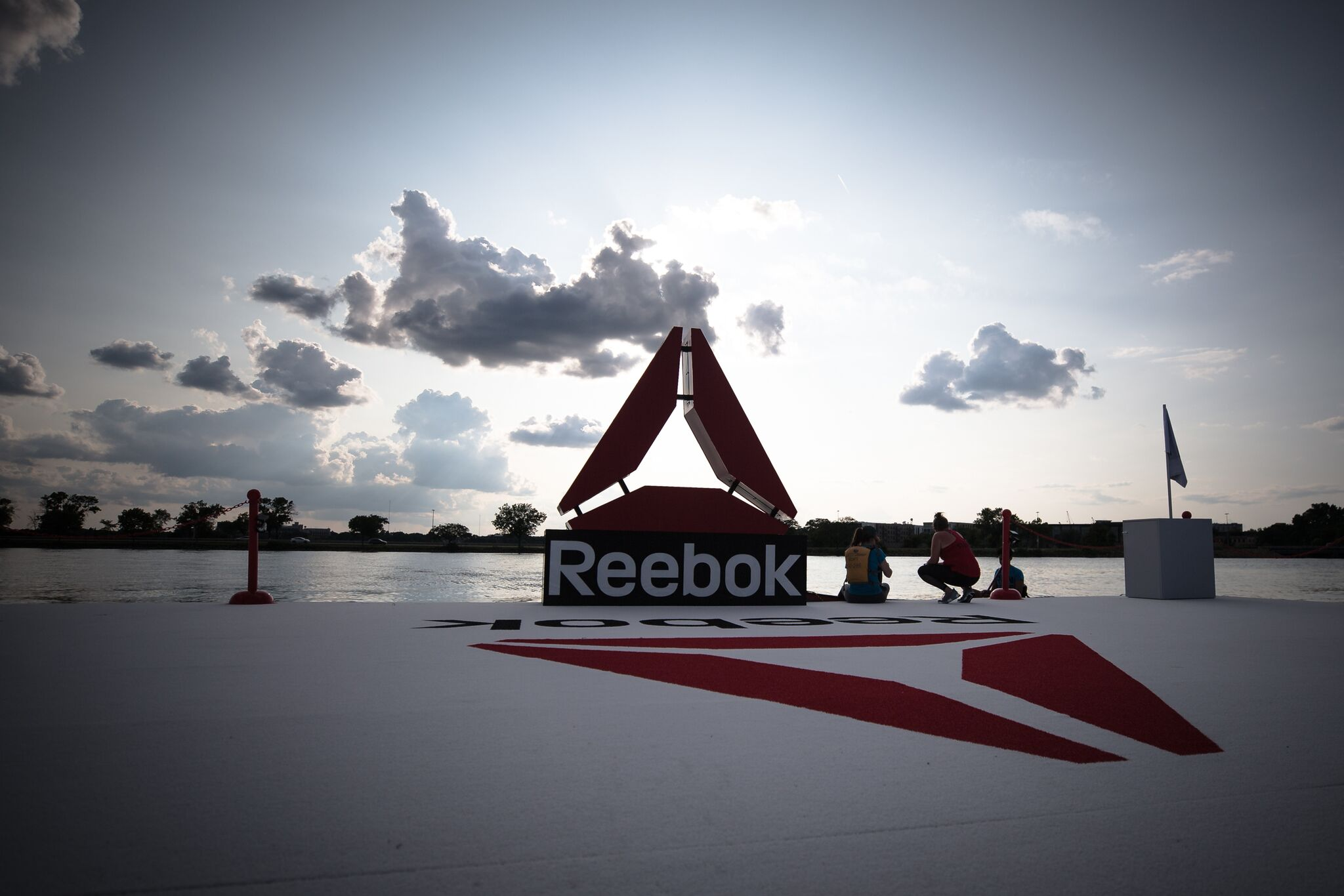 Reebok Fit Barge on Lake Monona at the 2018 CrossFit Games.