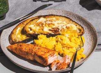 Tia-Clair Toomeys breakfast, courtesy of Reebok.
