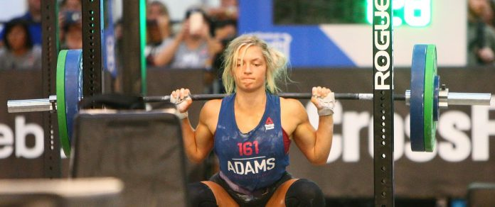 Haley Adams competes in the Teenage Girl 16-17 age division at the 2018 CrossFit Games. Photo courtesy of CrossFit Inc.
