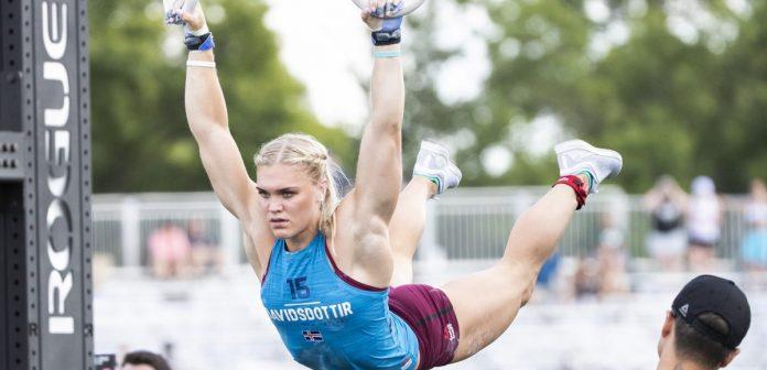 Katrin Davidsdottir during 30 Muscle Ups at the 2018 CrossFit Games. Photo courtesy of CrossFit Inc.