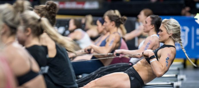 Katrin Davidsdottir at the 2018 CrossFit Games East Regional. Photo courtesy of CrossFit Inc.