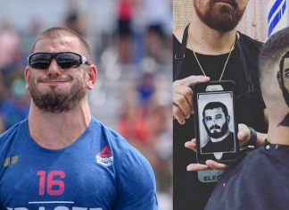 Puerto Rican man gets Mat Fraser haircut. Photo courtesy of CrossFit Inc and @anthonybarberpr on Instagram