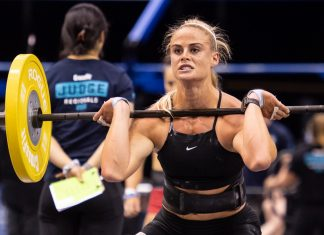 Sara Sgmundsdottir at the 2018 CrossFit Games Europe Regional