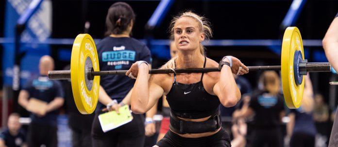 Sara Sgmundsdottir at the 2018 CrossFit Games Europe Regional