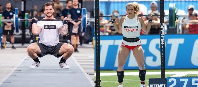 Willy Georges and Laura Horvath competing during the 2018 CrossFit Games season. Photos courtesy of CrossFit Inc.